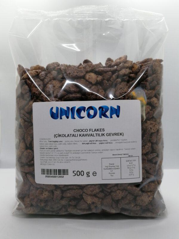 Unicorn Choco Flakes Çikolatalı Kahvaltılık Gevrek 500 Gr